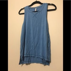 Athletic Tank with Tissue Hem Detail